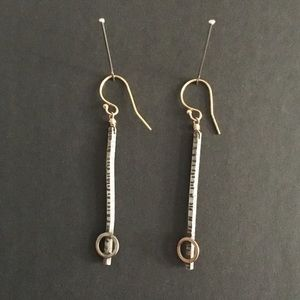 Jewelry - Sterling Silver and 14kt Gold Filled Bar Earrings